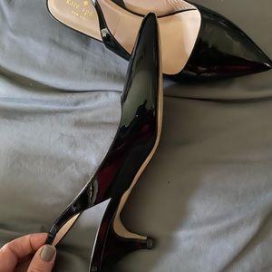 Kate spade ♠️ black heeled shoes